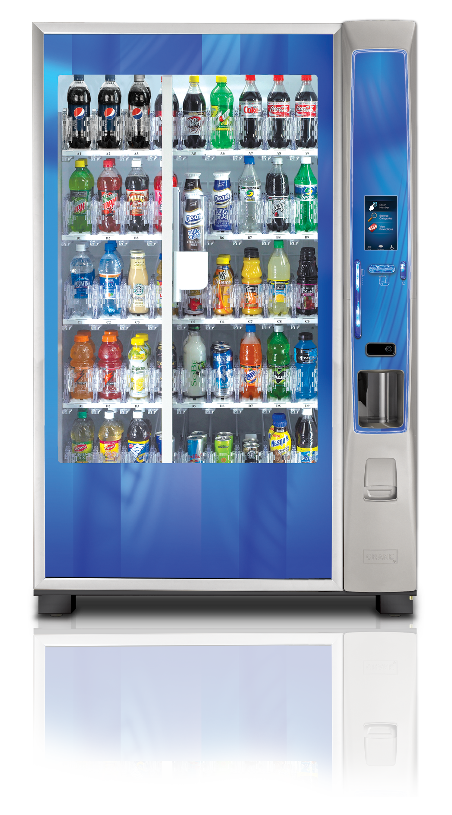 Crane MEDIA BevMax Vending Machine