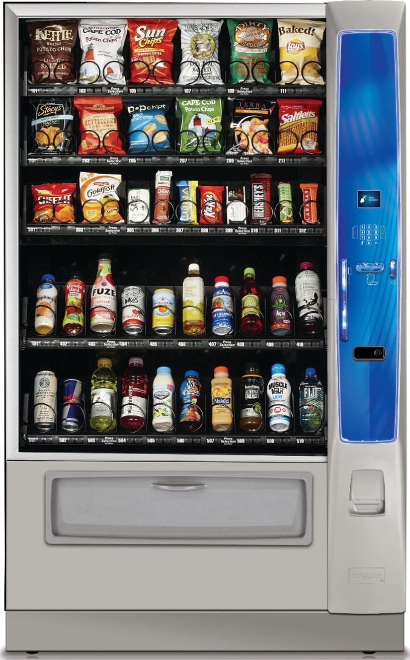 Crane MEDIA Chilled Snack Vending Machine